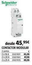 Oferta de Mecanismos eléctricos Schneider por 45,95€