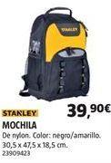 Oferta de Mochila portaherramientas Stanley por 39,99€