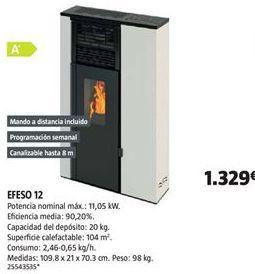 Oferta de Estufa de pellet por 1329€