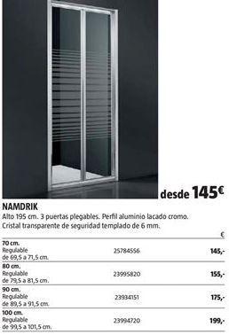 Oferta de Mampara de ducha por 145€