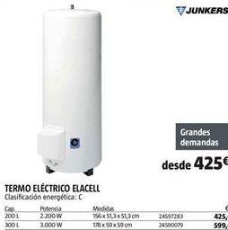Oferta de Termo eléctrico Junkers por 425€