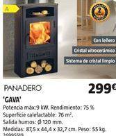 Oferta de Estufa de leña por 299€