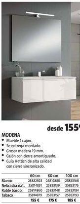 Oferta de Muebles de baño por 155€
