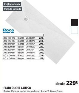 Oferta de Plato de ducha Roca por 229€