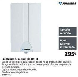 Oferta de Calentador Junkers por 295€