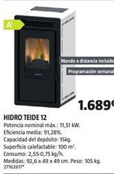 Oferta de Estufa de leña por 1689€