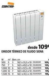Oferta de Emisor térmico Cointra por 109€