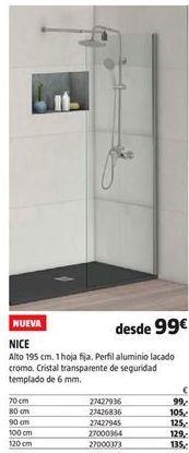 Oferta de Mampara de ducha por 99€