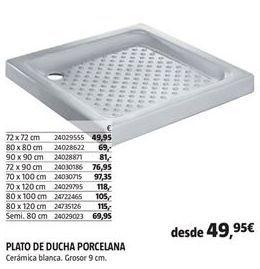 Oferta de Plato de ducha por 49,95€