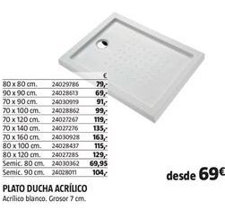 Oferta de Plato de ducha por 69€