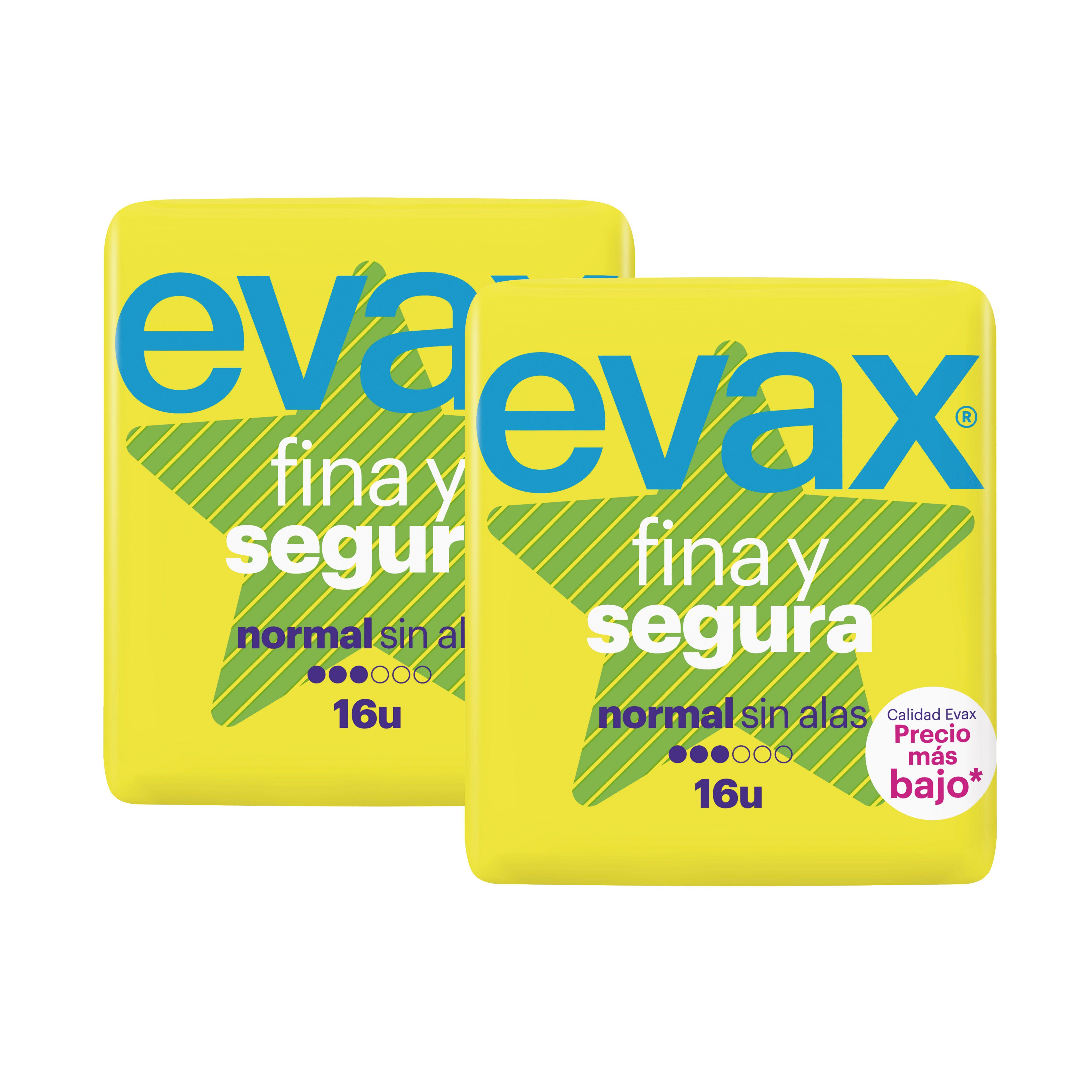 Oferta de EVAX Compresa Fina y Segura sense ales, 16 unitats por 1,75€