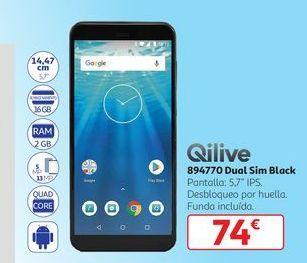 Oferta de 894770 Dual Sim Black Qilive por 74€