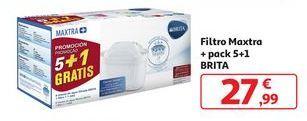 Oferta de Filtro Maxtra + pack 5 + 1 Brita por 27,99€