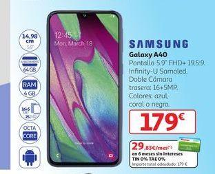 Oferta de Galaxy A40 Samsung por 179€