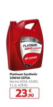Oferta de Platinum Synthetic 10W40 CEPSA por 23,9€