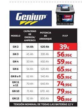 Oferta de Batería de coche Genium por