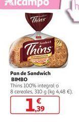 Oferta de Pan de sandwich Bimbo por 1,39€