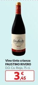 Oferta de Vino tinto crianza Faustino Rivero por 3,45€
