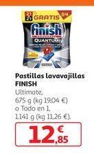 Oferta de Pastillas lavavajillas FINISH por 12,85€