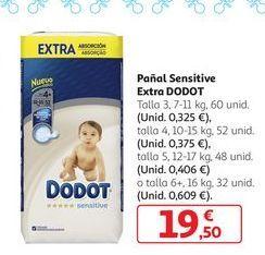 Oferta de Pañal Sensitive Extra Dodot por 19,5€