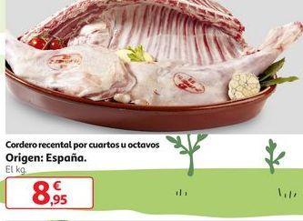 Oferta de Cordero Recental Por Cuartos  u Octavos por 8,95€