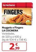 Oferta de Nuggets o fingers La Cocinera por 2,99€