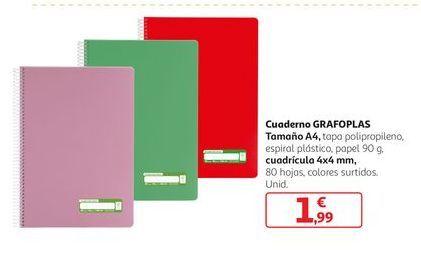 Oferta de Cuaderno Grafoplas por 1,99€