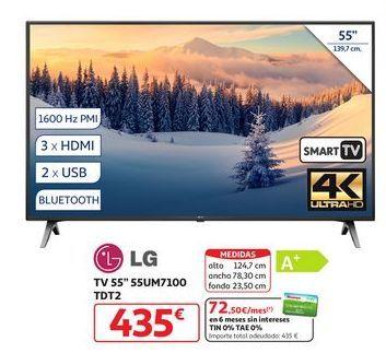 """Oferta de TV 55"""" 55UM7100 TDT2 LG por 435€"""