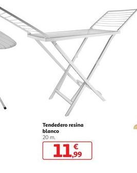 Oferta de Tendedero resina blanco por 11,99€
