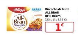 Oferta de Bizcocho de fruta ALL BRAN Kellogg's por 1€