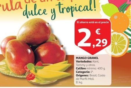 Oferta de MANGO GRANEL por 2,29€