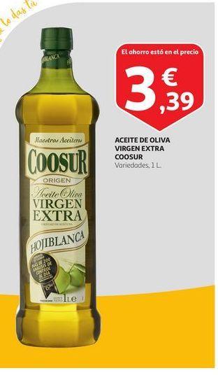 Oferta de Aceite de oliva virgen extra Coosur por 3,39€