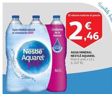 Oferta de Agua mineral Nestlé Aquarel por 2,46€