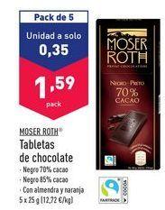 Oferta de Chocolatinas moser roth por 1,59€
