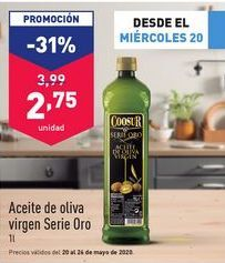 Oferta de Aceite de oliva virgen extra Coosur por 2,75€