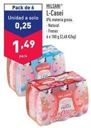 Oferta de Yogur líquido Milsani por 1,49€