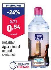 Oferta de Agua Font Vella por 0,54€