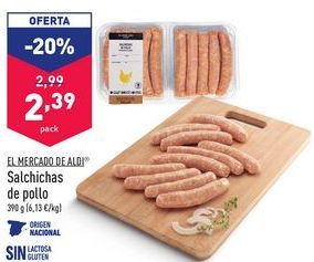 Oferta de Salchichas de pollo por 2,39€