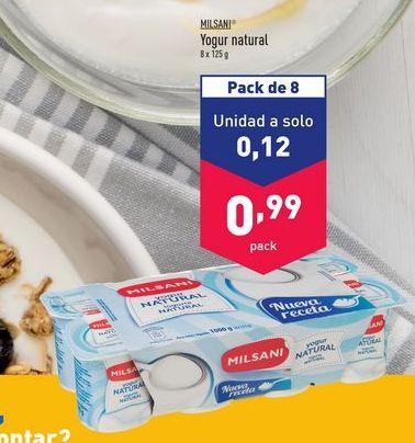 Oferta de Yogur natural Milsani por 0,12€