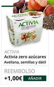 Oferta de Yogur desnatado Activia por