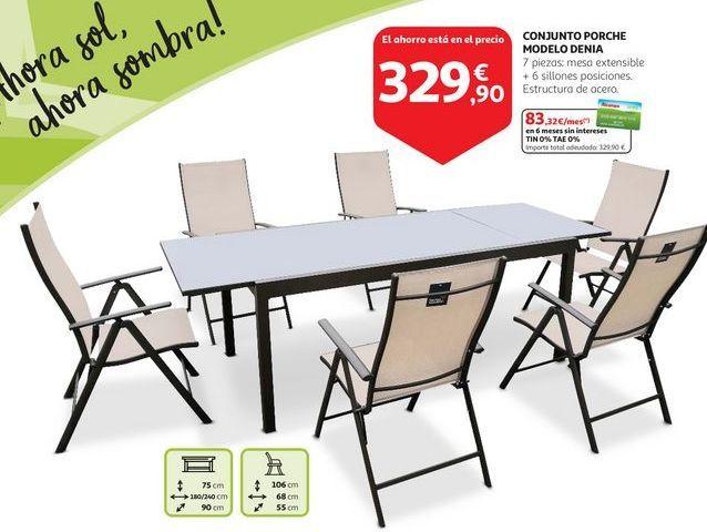 Oferta de Conjunto porche modelo DENIA por 329,9€