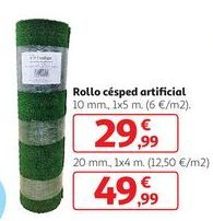 Oferta de Rollo césped artificial por 49,99€