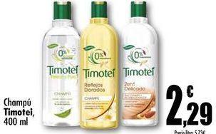 Oferta de Champú Timotei por 2,29€