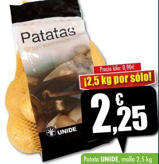 Oferta de Patatas Unide por 2,25€
