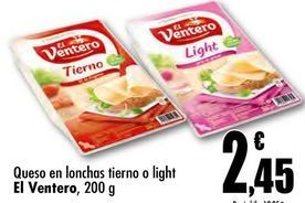 Oferta de Queso en lonchas El Ventero por 2,45€