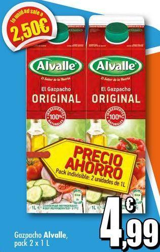 Oferta de Gazpacho Alvalle por 4,99€