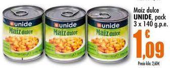 Oferta de Maíz dulce Unide por 1,09€