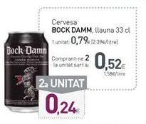 Oferta de Cerveza bock damm por 0,79€