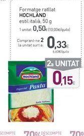 Oferta de Queso rallado Hochland por 0,5€