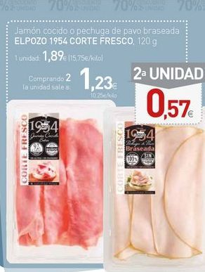 Oferta de Jamón cocido elpozo por 1,89€